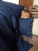 Úžitkový textil - Ľanové obliečky Perfect Look Marine Blue - 11806592_