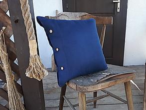 Úžitkový textil - Obliečka na vankúš Perfect Look Marine Blue - 11806336_