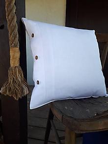Úžitkový textil - Obliečka na vankúš Perfect Look White - 11806459_