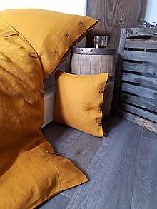 Úžitkový textil - Ľanové obliečky Perfect Look Orange - 11806511_