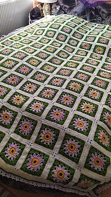 Úžitkový textil - Deka, Jarná koruna - 11803919_