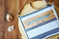 Kabelky - Luna stripes (linen cork) - 11808662_