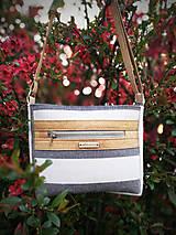 Kabelky - Luna stripes (linen cork) - 11808688_