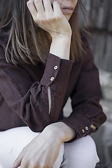 Košele - SIMONKA košeľa čokoládová - 11811931_