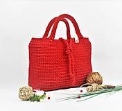 Kabelky - Kabelka / taška háčkovaná natur Red - 11808360_