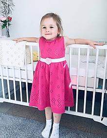 Detské oblečenie - Šaty, Classic royal, OEKO-TEX® - cyklamenová - 11811833_