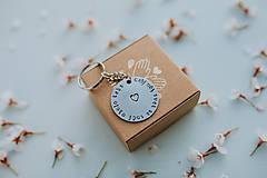 Drobnosti - Kľúčenka celý môj svet sa točí okolo teba - 11808208_