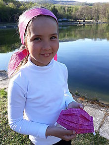 Rúška - Dievčenské rúško so šatkou - 11809714_