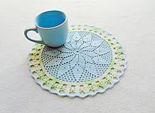 Úžitkový textil - Háčkovaná dečka Modro-zelená - 11810750_