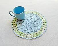 Úžitkový textil - Háčkovaná dečka Modro-zelená - 11810761_