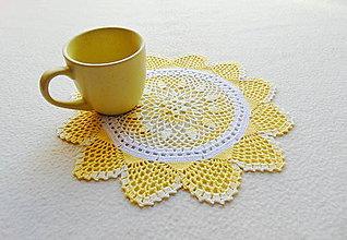 Úžitkový textil - Háčkovaná dečka Ranné slnko - 11811985_
