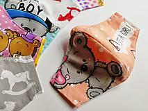 Rúška - Detské tvarované RÚŠKO s drôtikom - 11810502_
