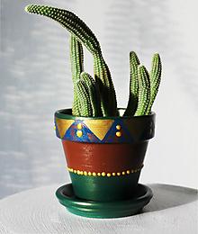 Nádoby - Terakotový kvetináč - Poklad smaragdový - 11811533_