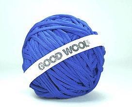 Materiál ručne robený - Tričkovlna AJ NA RÚŠKA... MODRÁ stredná (bavlna+elastan) - 11810427_