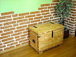 Nábytok - Drevená truhlica rovná - 11808395_