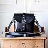 Čierna kožená kabelka No.2