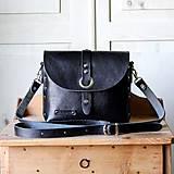Čierna kožená kabelka No.1