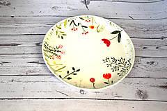 Nádoby - Ručne maľovaný tanier Lúka - 11808301_