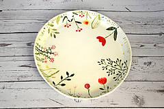 Nádoby - Ručne maľovaný tanier Lúka - 11808302_