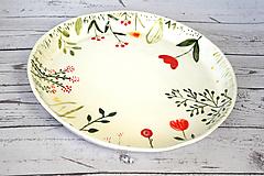 Nádoby - Ručne maľovaný tanier Lúka - 11808304_