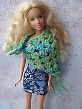 Hračky - Barbie - boho háčkovaná šatka - 11811794_