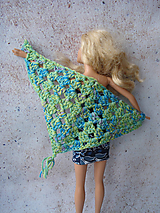 Hračky - Barbie - boho háčkovaná šatka - 11811795_