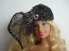 Hračky - Barbie, klobúčik, fascinátor - 11811505_