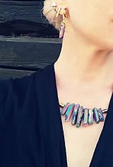 Sady šperkov - Krištáľový SET.: náhrdelník a zdarma náušnice z rovnakého materialu - 11810820_
