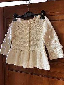 Detské oblečenie - Pletený svetrík - 11809153_