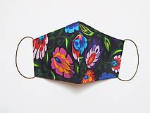 Textilné rúško na tvár - VEĽKÉ FOLK KVETY