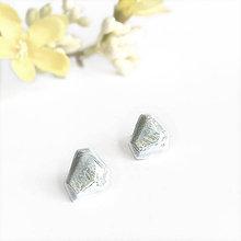 Náušnice - Krystalix náušnice - šedomodré - 11809633_