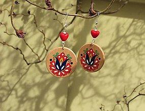 Náušnice - Drevené náušnice VIII - 11809266_