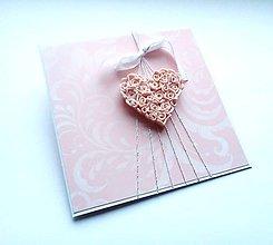 Papiernictvo - Pohľadnica ... srdce - 11814293_