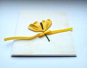 Papiernictvo - Pohľadnica ... žltý tulipán - 11814389_