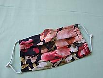 Dizajnové rúško Floris black letné dvojvrstvové