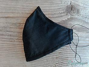 Rúška - Ochranné rúško (čierne) - 11813877_