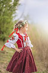 Ozdoby do vlasov - Romantický kvetinový venček - 11815526_