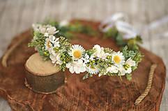 Ozdoby do vlasov - Romantický kvetinový venček - 11815541_