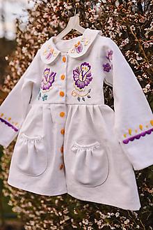 Detské oblečenie - Vyšívaný ľanový kabátik - 11814944_