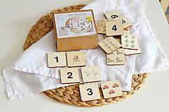 Hračky - Drevené pexeso Čísla a množstvá - 11813802_