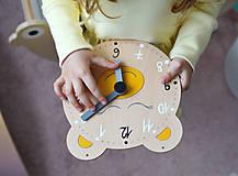 Hračky - Edukačné dizajnové hodiny – Na učenie sa času - 11814075_