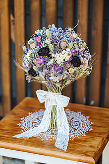 Dekorácie - Prírodná kytica s hortenziou - 11812363_