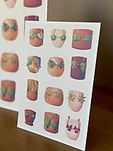 Grafika - Letná kolekcia plaviek: Provokatéri z kvetináča - Print   Botanická ilustrácia - 11812580_