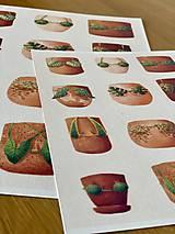 Grafika - Letná kolekcia plaviek: Provokatéri z kvetináča - Print   Botanická ilustrácia - 11812582_