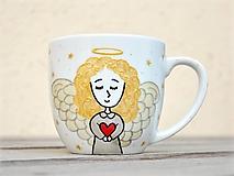Nádoby - Maľovaný hrnček - Anjelik - 11813710_