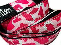 Pre zvieratká - Prepinacie vodítko Pink Camouflage - 11815299_