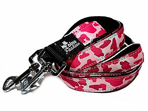 Pre zvieratká - Prepinacie vodítko Pink Camouflage - 11815298_