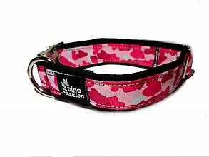 Pre zvieratká - Obojok Pink Camouflage softshell - 11815662_