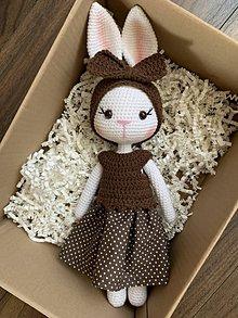 Hračky - zajačica Fifinka - v hnedom - 11814907_