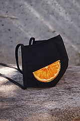 Trojvrstvové čierne rúška - Citrusy